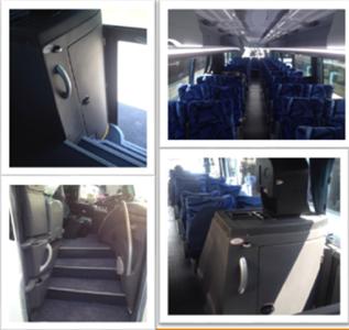 Vista interiores de renta de autobus IRIZAR PB i6